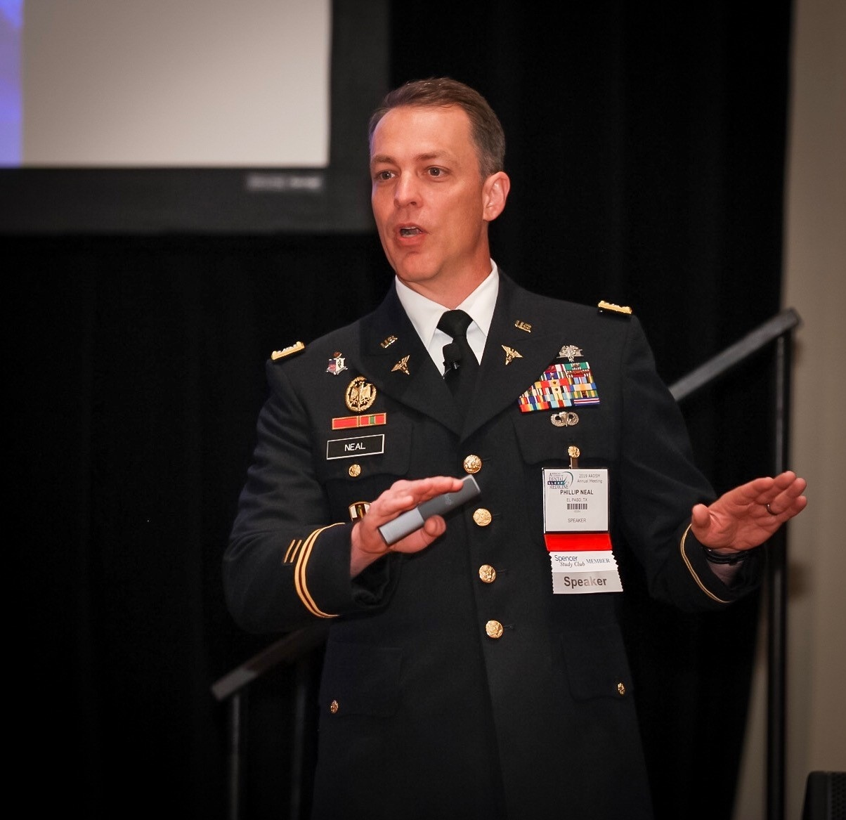 Lt. Colonel Neal delivers the keynote address at 2019 ADSM Annual Meeting