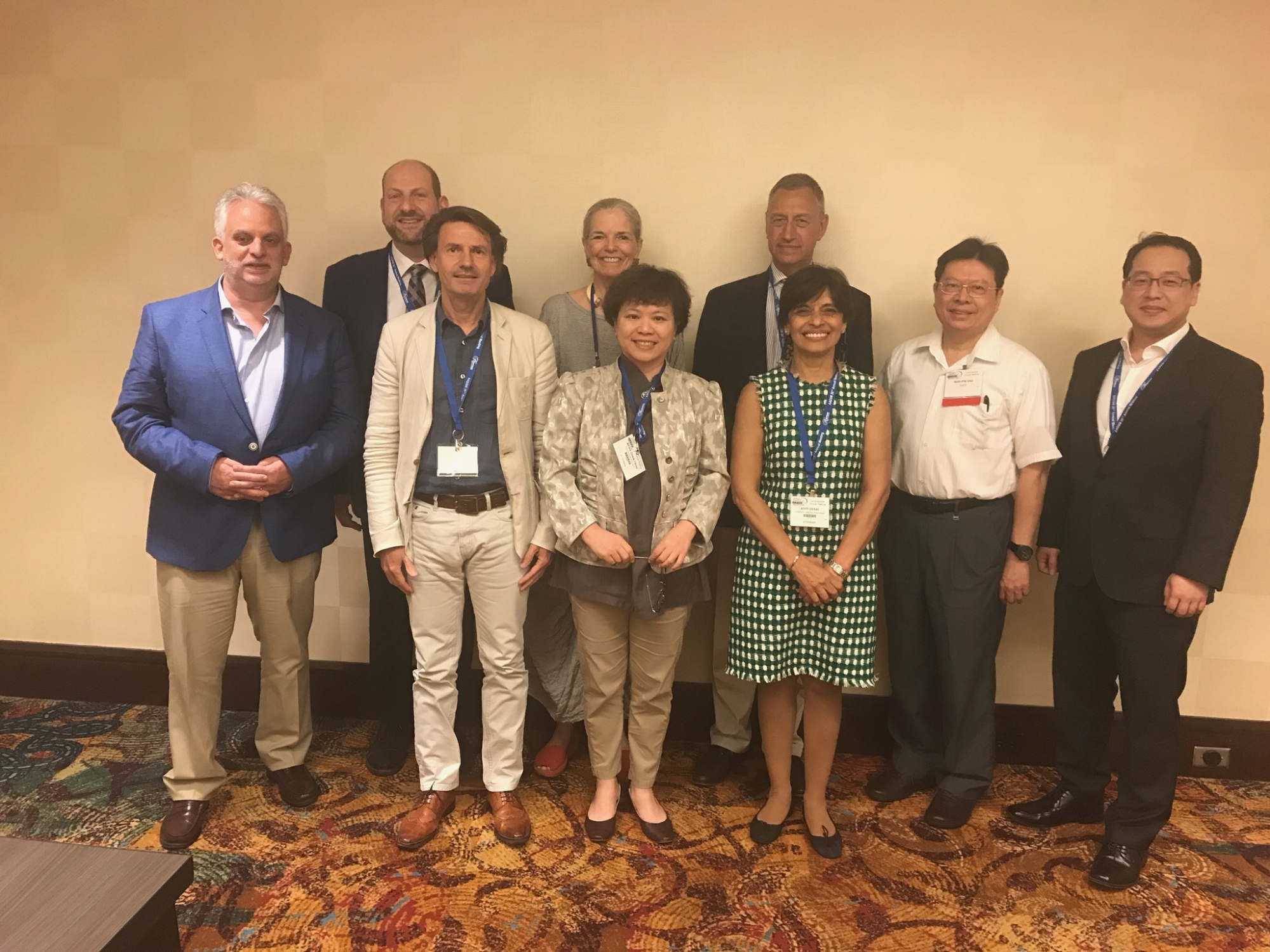 Leaders from dental sleep medicine organizations in 7 countries at the 2019 AADSM annual meeting